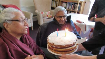 Resident at Harley Grange celebrates birthday